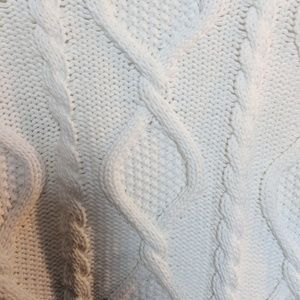 Zara Sweaters - Zara Cable Knit White Cropped Cardigan